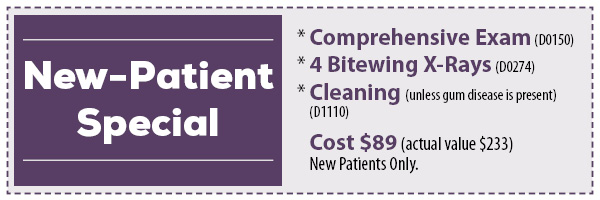New Patient Special Certificate at Baton Rouge LA dentist