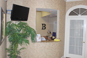 Photo of the front desk at Baton Rouge LA dentist office Biggio Dental Care