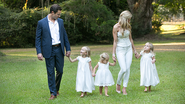 Dr. Biggio and his family enjoying a sunny day