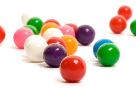 Multi-colored gumballs